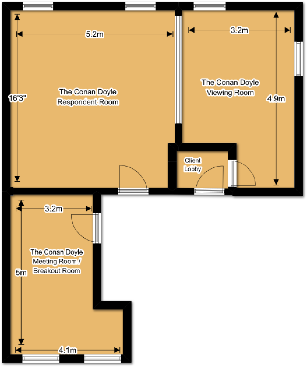The Conan-Doyle Suite Floorplan