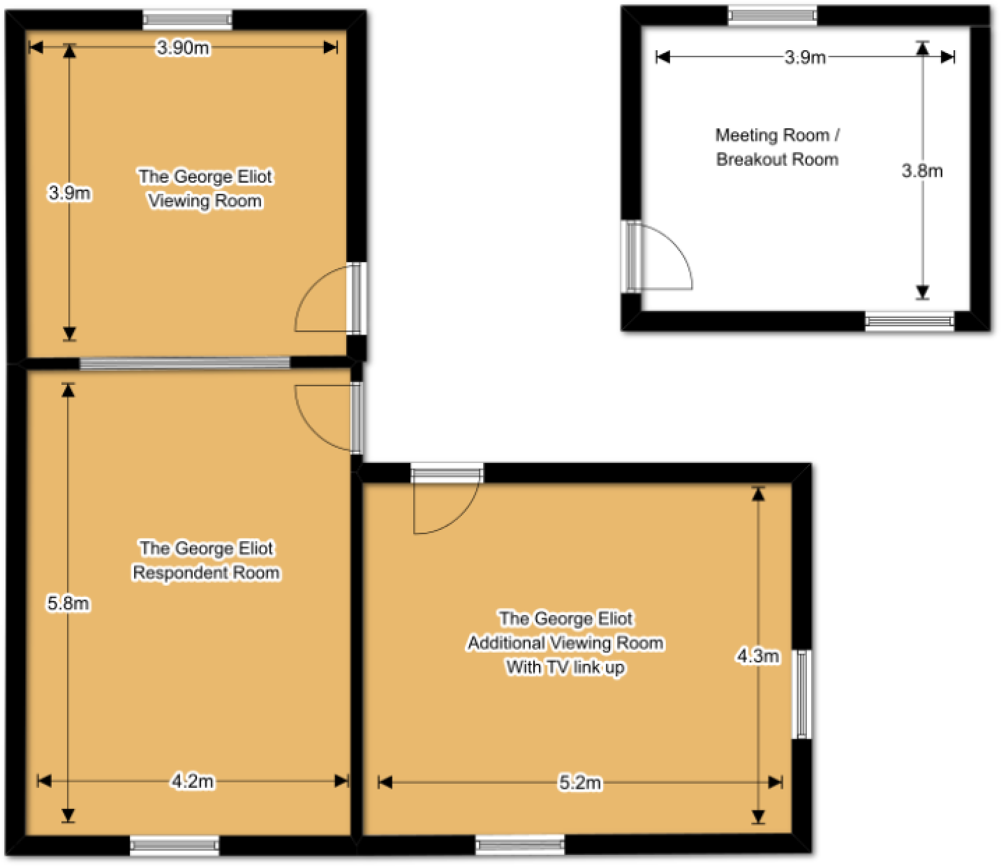 The George Elliot Suite Floorplan