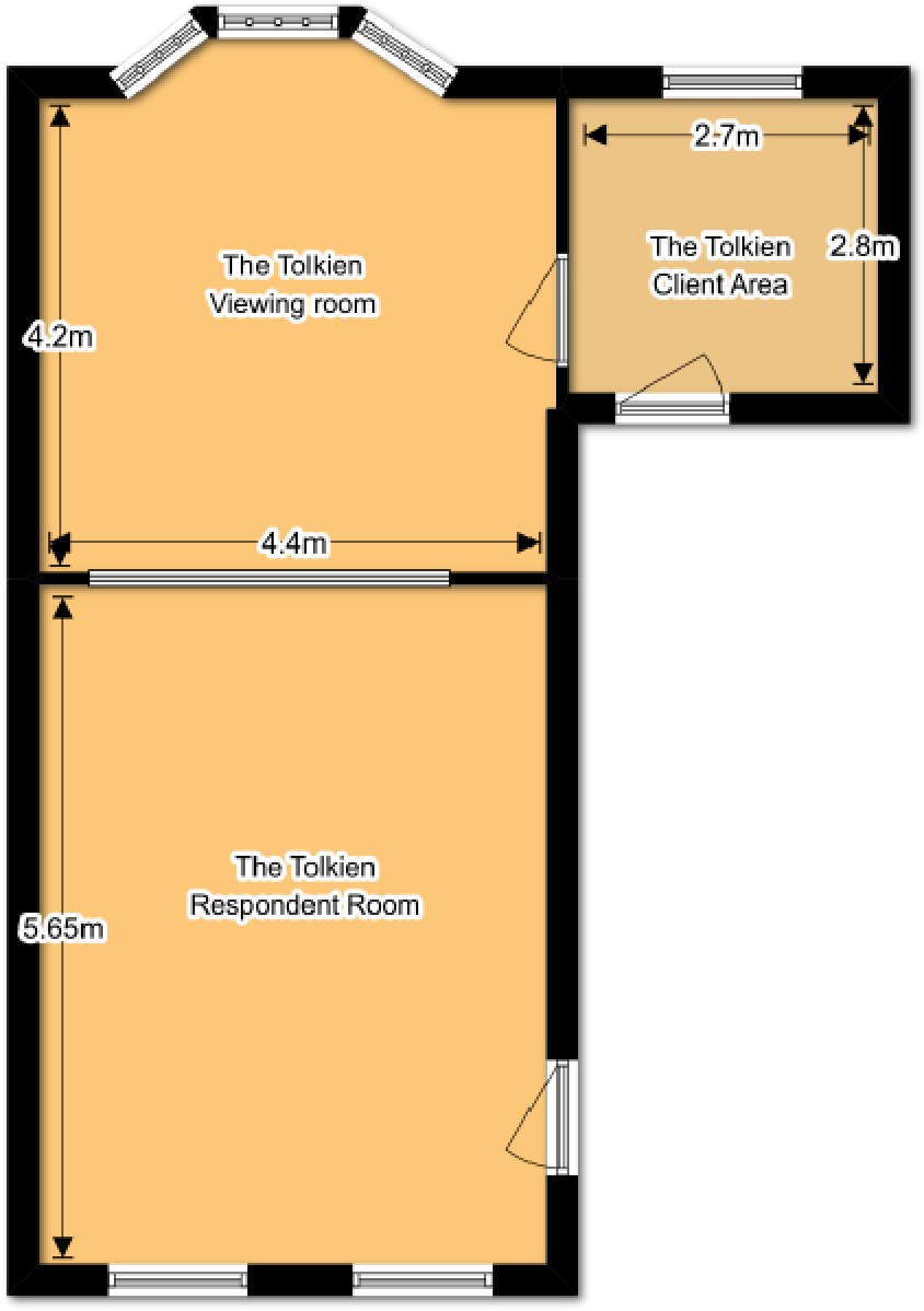 The J.R.R. Tolkien Suite Floorplan